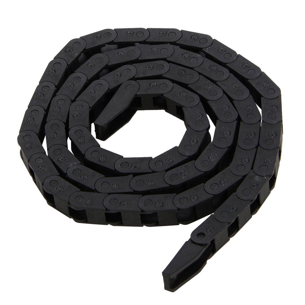 Schwarz Schleppkette Nested Kunststoff Nylon Schleppleine Kabel Draht Wasserleitungen Träger 7*7mm für CNC Router Werkzeugmaschinen Mayitr