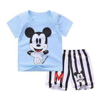 Nouveau Bébé Garçon D'été Mickey Vêtements Infantile Nouveau-Né Garçon Fille Ensemble De Vêtements de Sport T-shirt + Shorts Costumes
