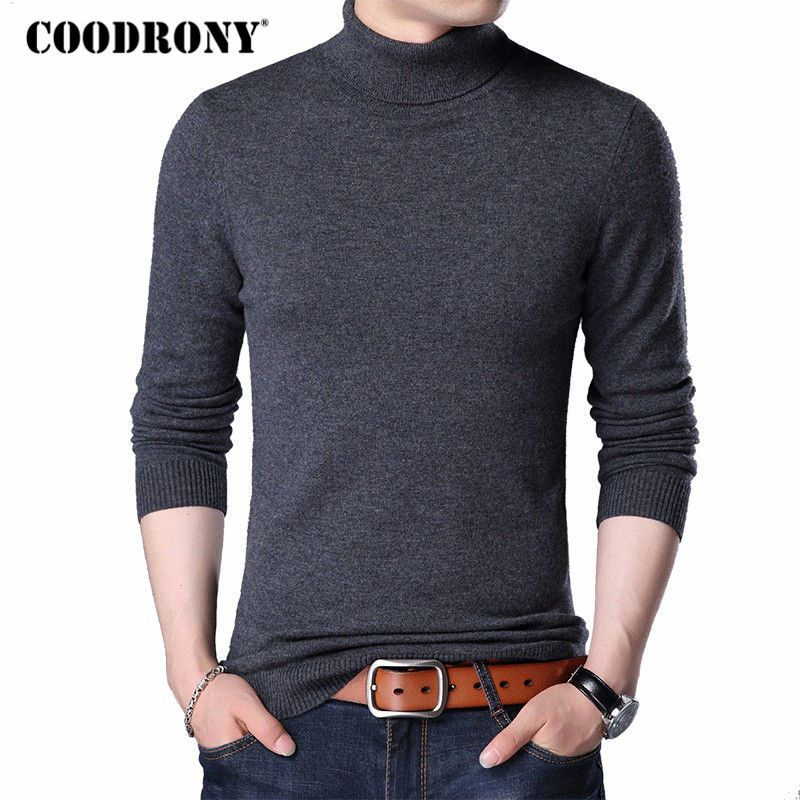 COODRONY Merino Wool Sweater Men Casual Classic Turtleneck Pull Homme 2018 Winter Soft Warm Cashmere Men's Pullover Sweaters 310