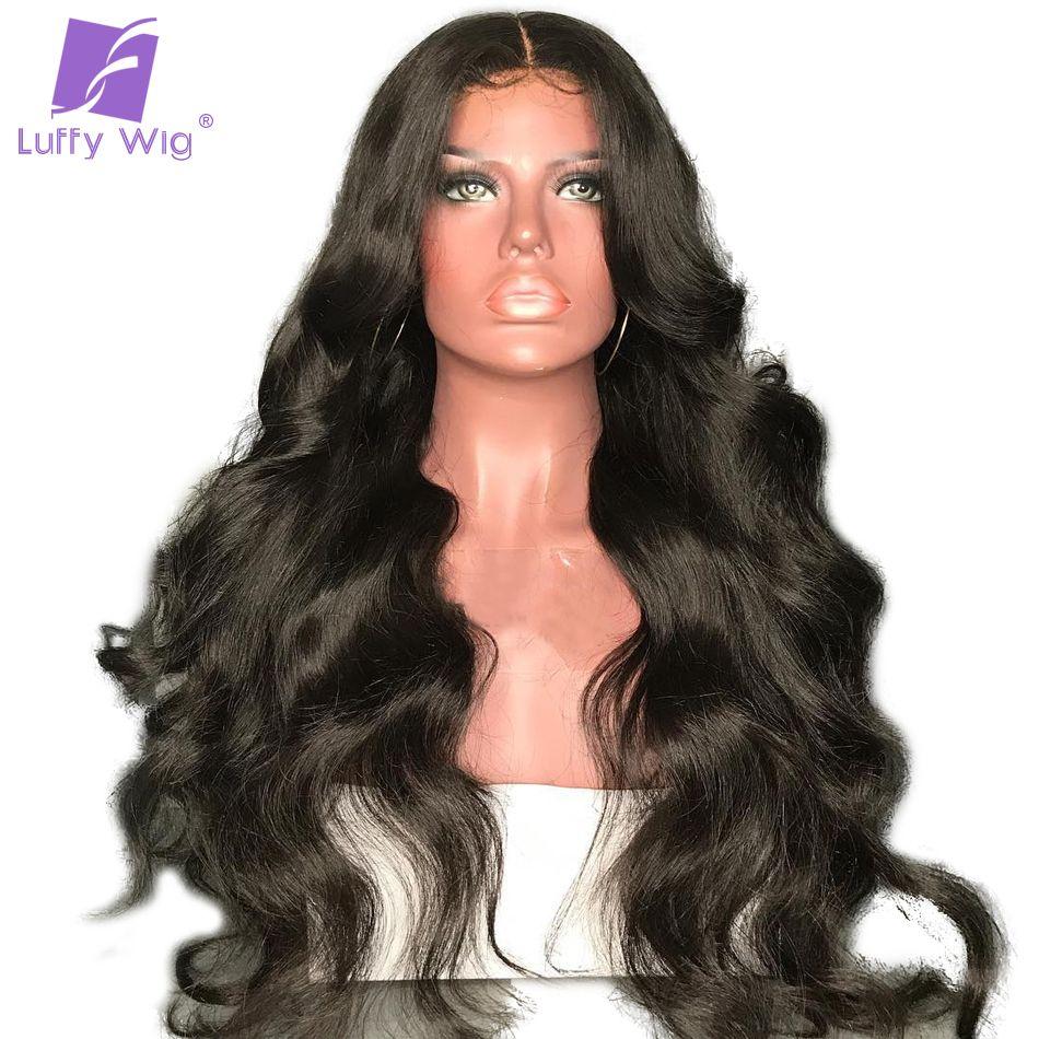 Luffy Körper Welle 5x4,5 Seide Basis Volle Spitze Menschliches Haar Perücken Mit Baby Haar Brasilianische Nicht Remy Vor gezupft Haaransatz 130% Dichte