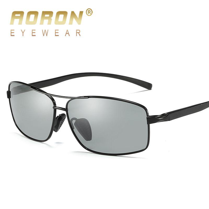 2018 AORON Photochromen Sonnenbrille Männer Polarisierte Verfärbung HD Brille Männlich Blend Fahren Gläser Brand Design Eyewear