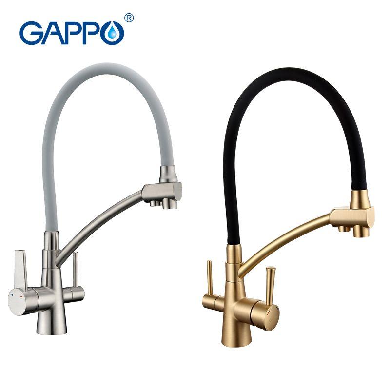 GAPPO filtre à eau robinets cuisine robinet mélangeur cuisine robinets mélangeur évier robinets purificateur d'eau robinet cuisine mélangeur d'eau filtrée