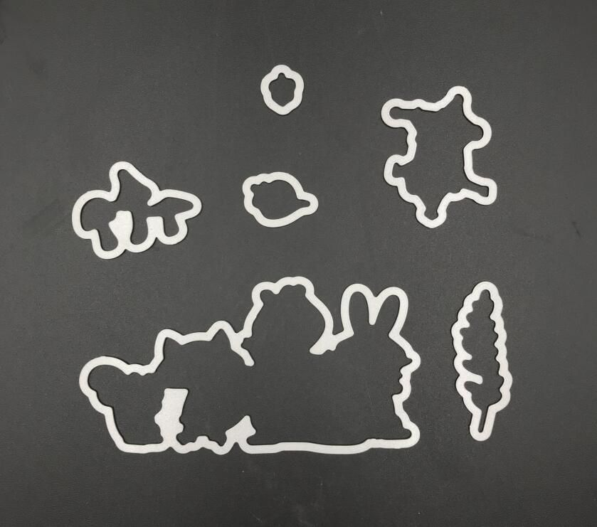 Fox, rabbit  Cutting Dies Stencils for DIY Scrapbooking/Decorative Embossing DIY Paper Cards Making A823