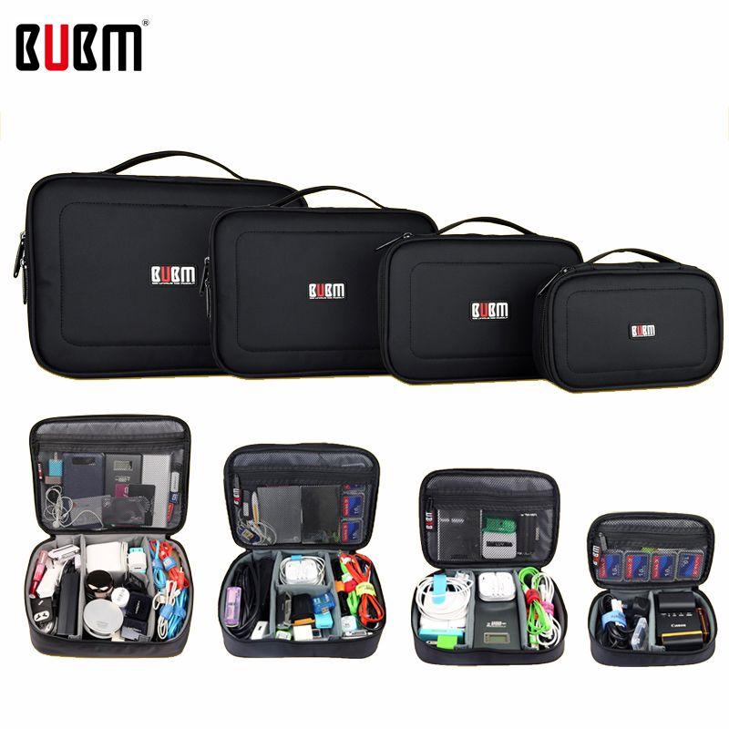 BUBM sac pour accessoires électroniques numérique sac de réception batterie externe XL L M S 3 4 pièces un ensemble Portable sac de voyage organisateur