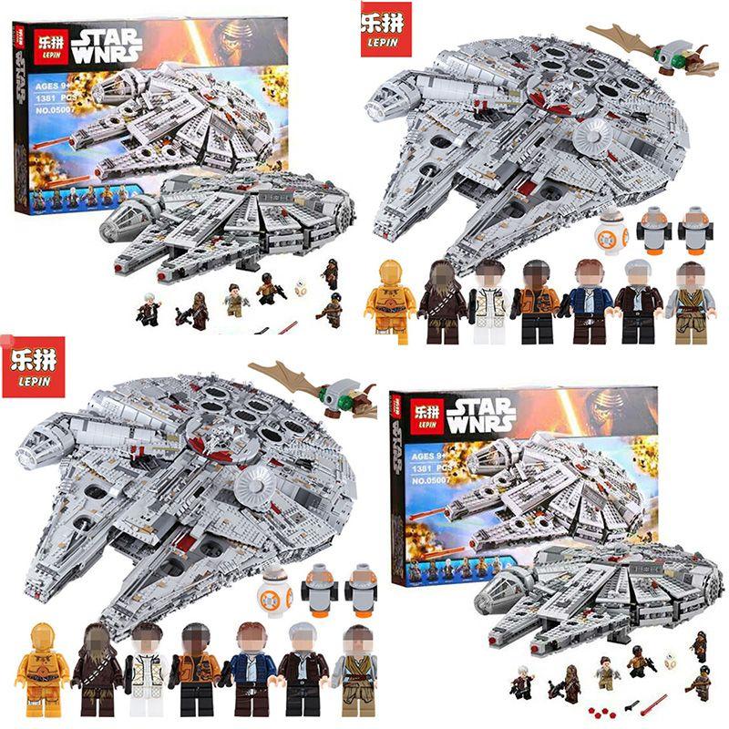 LEPIN 05007 05132 Srar Building Blocks Brick Wars 75192 Children Toy Awakens Millennium Falcon Model Compatible 10467
