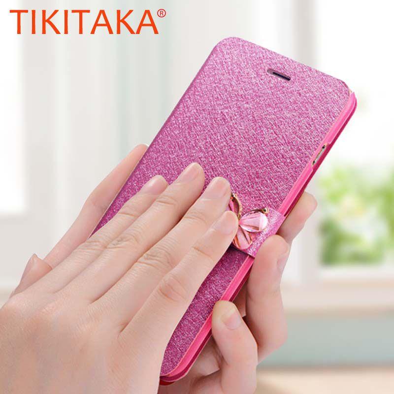 i6 6s Case Leather bow knot Wallet Magnetic Flip Case For iPhone SE 6 6S Plus 7 7 Plus 8 8 Plus Bling Diamond Cases Coque fundas