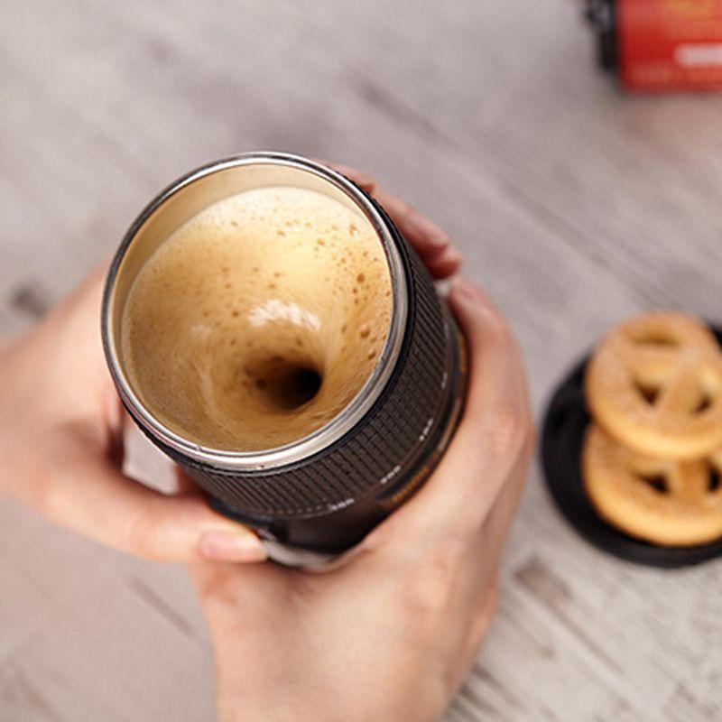 Tasse à café Créative caméra modèle Tasses À Double Isolation Maison Bureau Tasse de voyage Automatique Électrique Café Lait Tasse de Mélange
