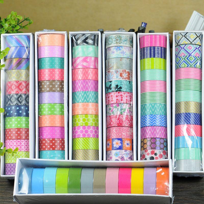 washi tape set masking tapes japanese christmas washitape fita kawai decorative scotch 12pcs/lot papel scrapbook ferramenta