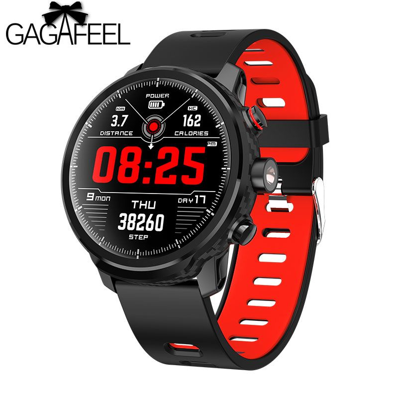 Gagafeel L5 Männer Smart Uhr IP68 Wasserdichte Fitness Herz Rate Monitor Armband Anruf Erinnerung Smartband Für Android IOS