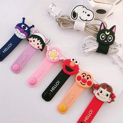 1Pcs Cute Cable Organizer Bobbin Winder Cable Protector Wire Cord Management Marker Holder Cover For Earphone USB Cord