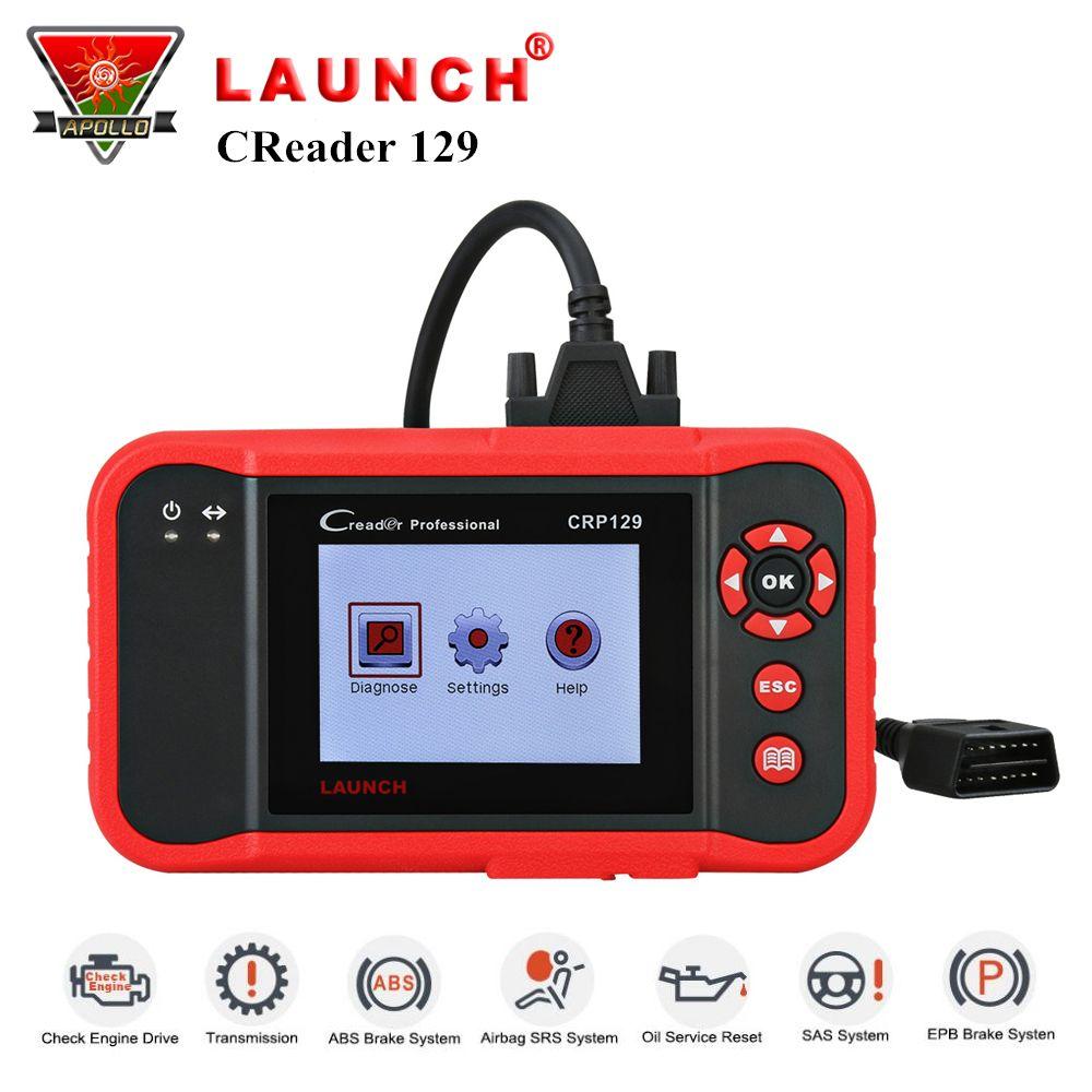 Starten CRP129 CRP 129 OBDII Diagnose Werkzeug ENG AT ABS SRS Test + Brems Öl SAS Setzt Auto Scanner pk creader VIII Code Leser