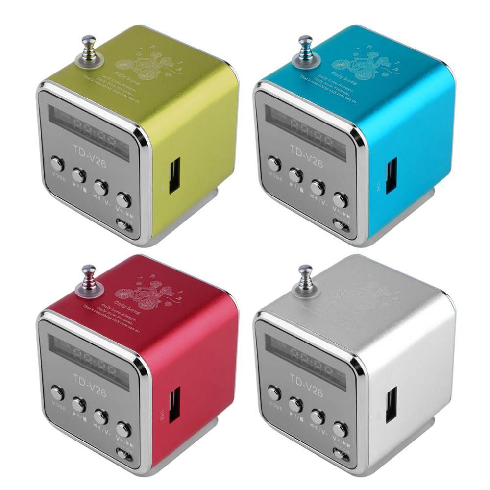 Tragbare Micro USB Mini Lautsprecher soundbar Stereo Super Bass Lautsprecher Musik MP3/4 FM Radio