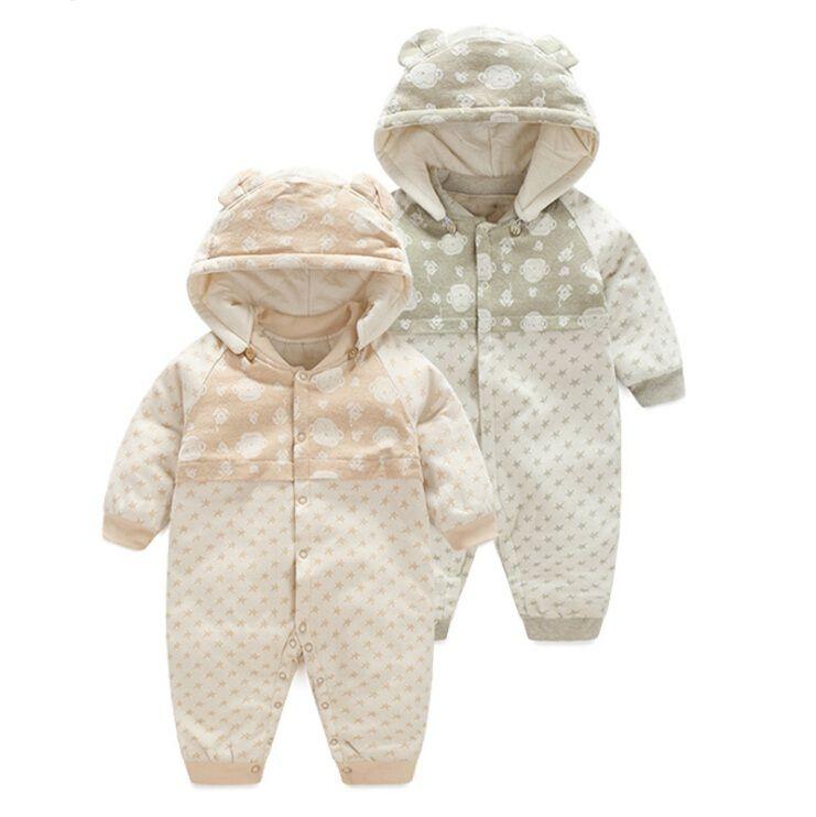 2017 automne hiver Bébé Barboteuses Pyjamas Garçons Fille Organique coton Nouveau-Né Combinaisons Infantile Vêtements de nuit bébé vêtements