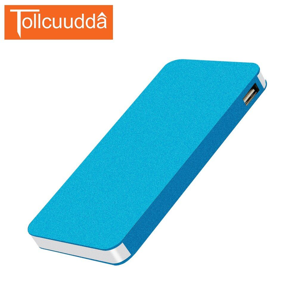 6000mAh Tollccudda Portable Power Bank Thin Metal PoverBank External Battery Pack Universal 2 USB Charger Powerbank For Al Phone