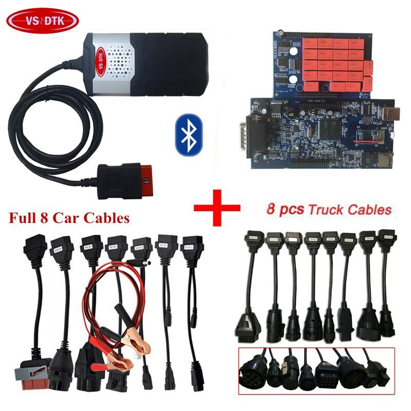2018 Hot sale VD TCS CDP PRO plus 2015 R3 with keygen or 2016.0 free active CD for delphis vd ds150e cdp pro +8 car/truck cables
