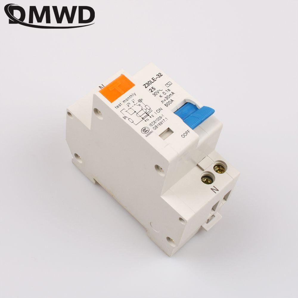 DMWD DPNL DZ30LE-32 1 P + N 25A 220 V 230 V 50 HZ 60 HZ Fehlerstromschutzschalter mit Überstromschutz Und Leck RCBO