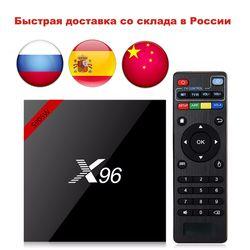 Más nuevo X96 X96W Smart TV Box Android 7,1 Bluetooth 4,0 Amlogic S905W 1g/8g 2G/ 16G 2,4 GHz WiFi HD Quad Core 4 K Kodi 17,3 Mini caja