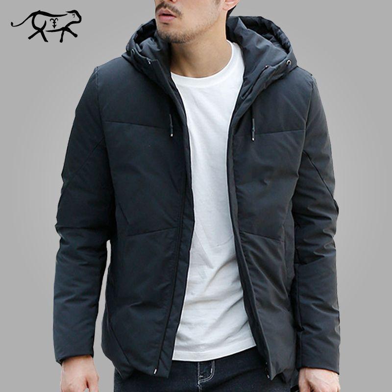 Winter Jacke Männer Warme Gepolsterte Kapuze Mantel Mode Lässig Marke Unten Parka Männlichen Jacke Und Mantel Hoodies Oberbekleidung Plus Größe