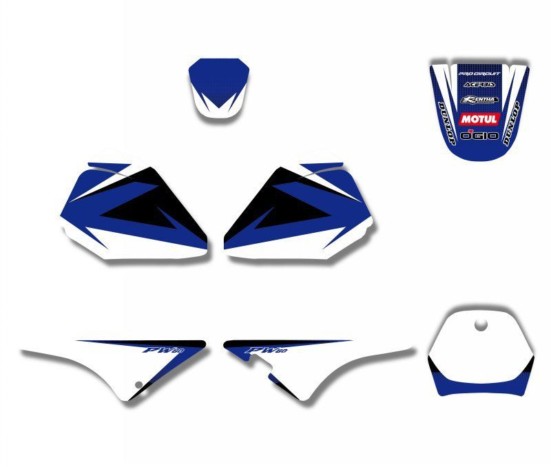 New Style TEAM GRAPHICS&BACKGROUNDS DECAL STICKERS Kits  For Yamaha PW 80 PIT bike