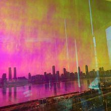 3 Mt Qualität Rot Dichroic Schillernden Finish Film für Glas Fenster und Acryl Panels 68 cm X 30 mt Pro rolle