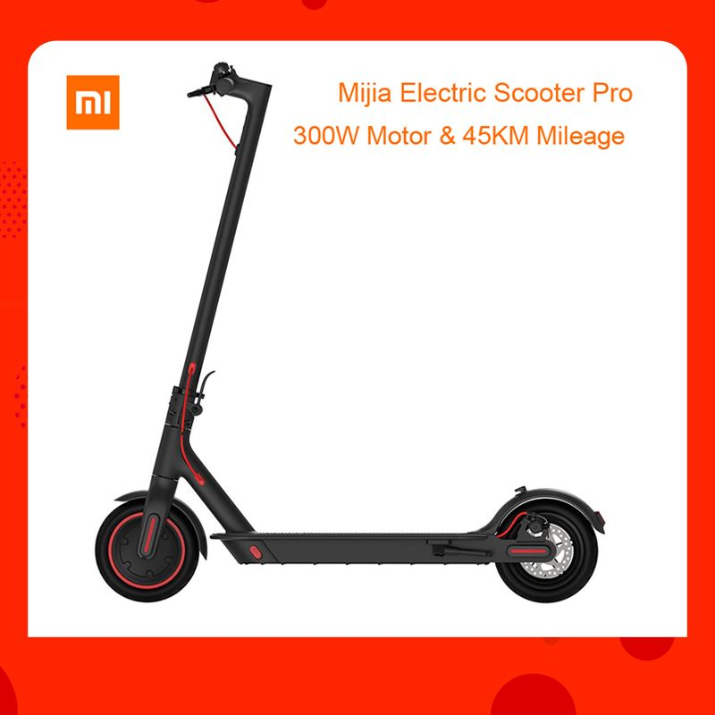 EU lager Globale verision Xiaomi Mijia Klapp Elektrische Roller Pro 300 W Motor max last 100 kg 8,5 Zoll Reifen 45 KM Laufleistung Palette