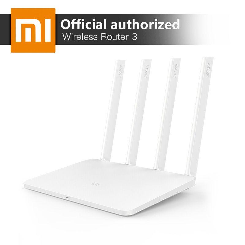Xiao mi mi WiFi Sans Fil Routeur 3 Anglais Version 867 Mbps WiFi Répéteur 4 Antennes 2.4g/5 ghz 128 mb ROM Double Bande APP Contrôle