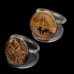 Oro Bitcoin monedas coleccionables regalo Casascius Bitcoin BTC moneda colección de arte oro físico monedas conmemorativas