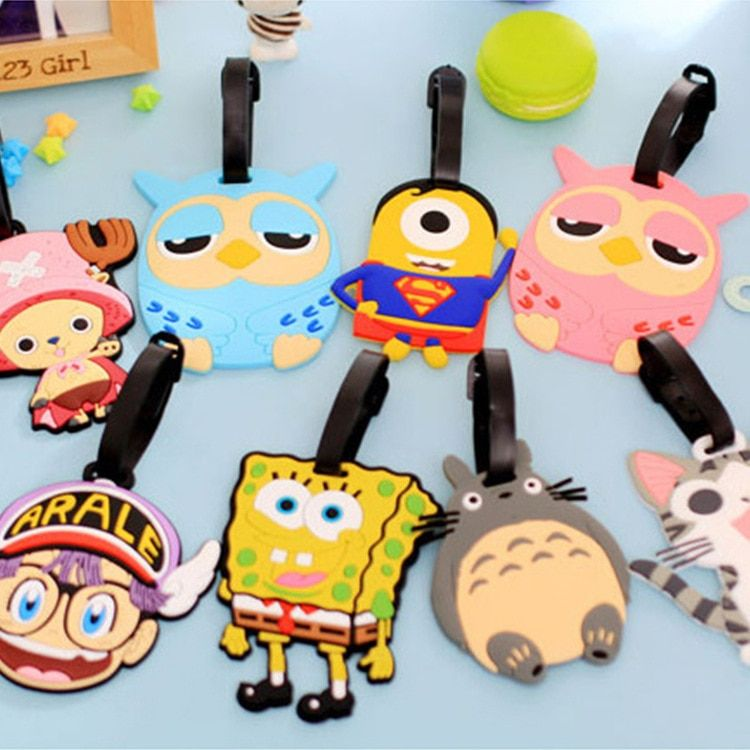 Fashion Luggage Tag Cartoon Style Travel Accessories Cute Portable Suitcase Silicon Name Labels bag Accessories