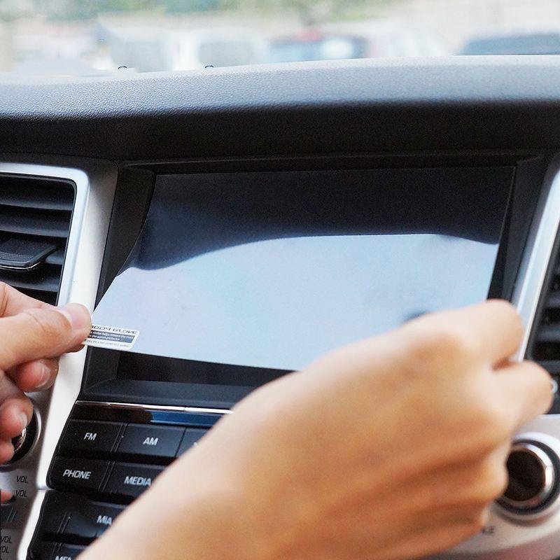 Car Styling Navigation GPS Écran En Acier De Protection Film Pour Hyundai Tucson 2015 2016 2017 2018 Contrôle de LCD Écran Voiture autocollant