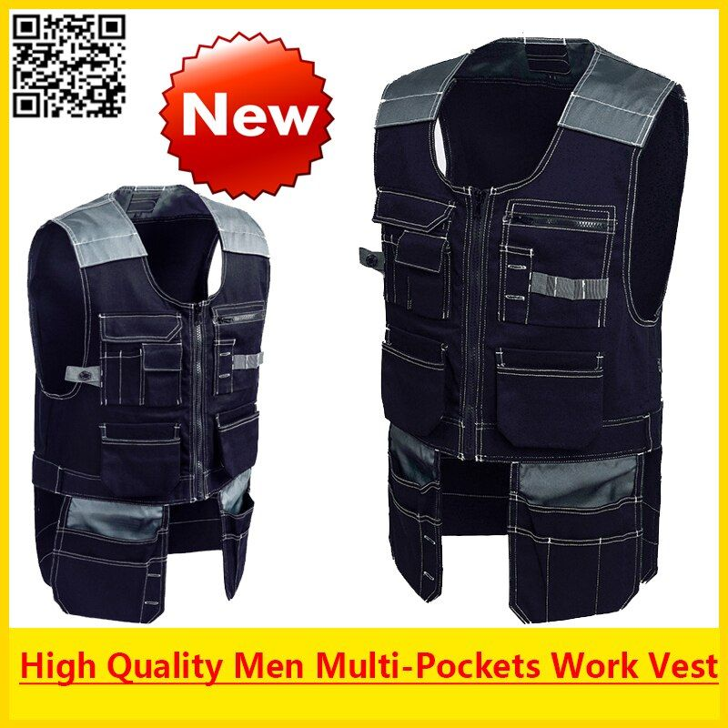 Bauskydd High quality Men outdoor workwear multi-pockets work vests tool vests free shipping
