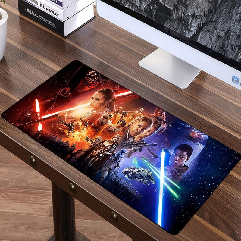 FFFAS 70x30cm Star Wars Force Unleashed Big Mouse Pad Large Super Speed Mousepad America Fashion Laptop Notebook Keyboard Mat XL