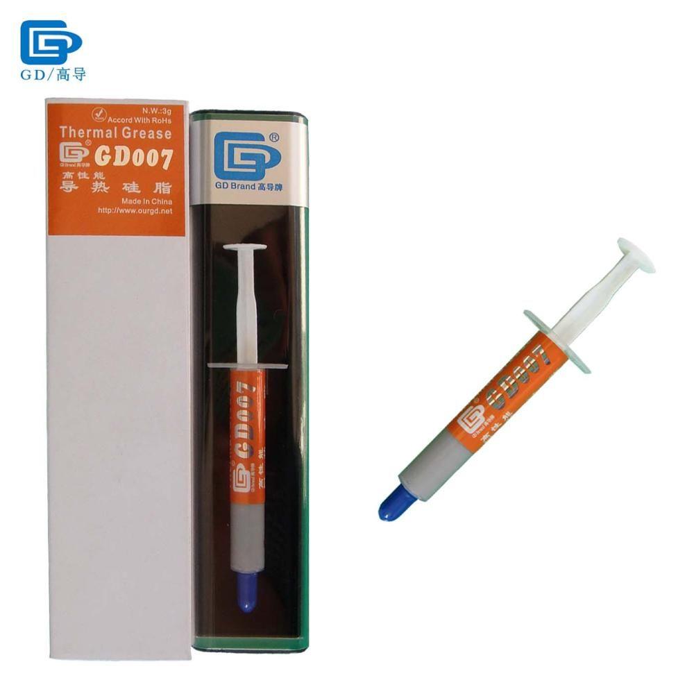GD007 pâte à graisse thermoconductrice Silicone plâtre dissipateur de chaleur composé poids Net 3 grammes haut de gamme gris argent BX3 SY3