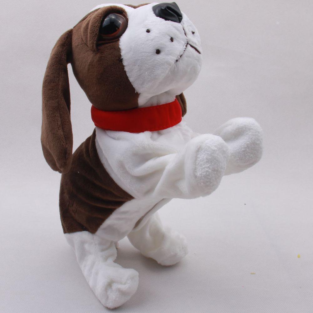 Control de sonido Electrónico De Mascotas Perros Electrónico Interactivo Robot Dog Bark Pararse Caminar Juguetes Electrónicos Perro de Navidad Para Los Niños