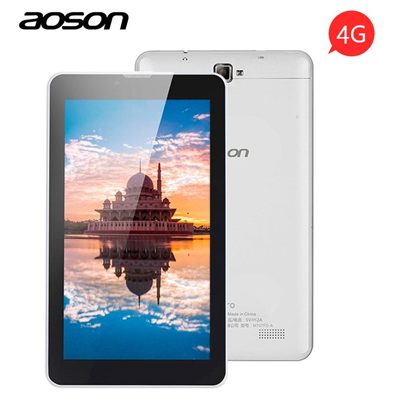 Aoson S7 PRO 7 inch 4G LTE-FD Phone Call Tablets PC 1GB+8GB Android 6.0 Dual SIM Card WiFi Bluetooth Phablet 1024*600 IPS Screen