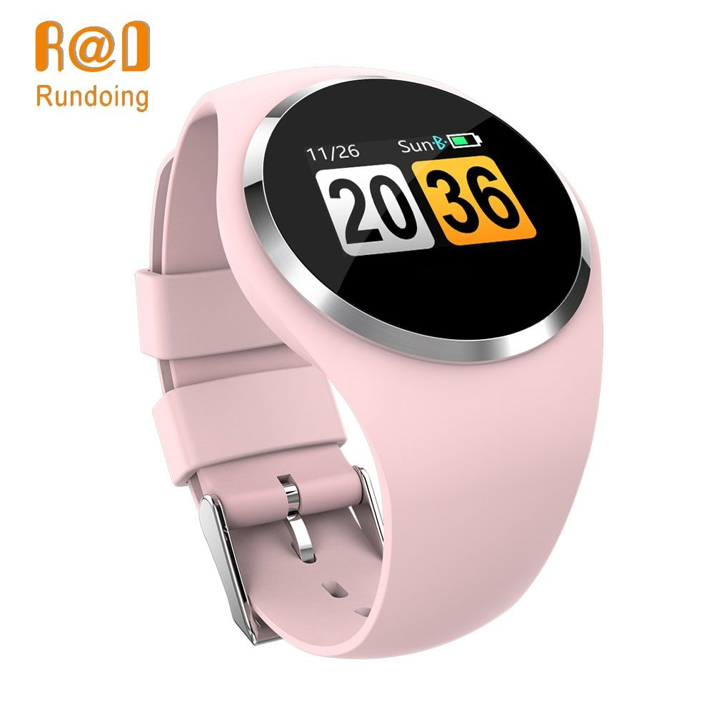 Rundoing Q1 Color LCD Screen Smart Wristband Blood Pressure Heart Rate Monitor smart band Fitness Tracker Smart Bracelet ladies