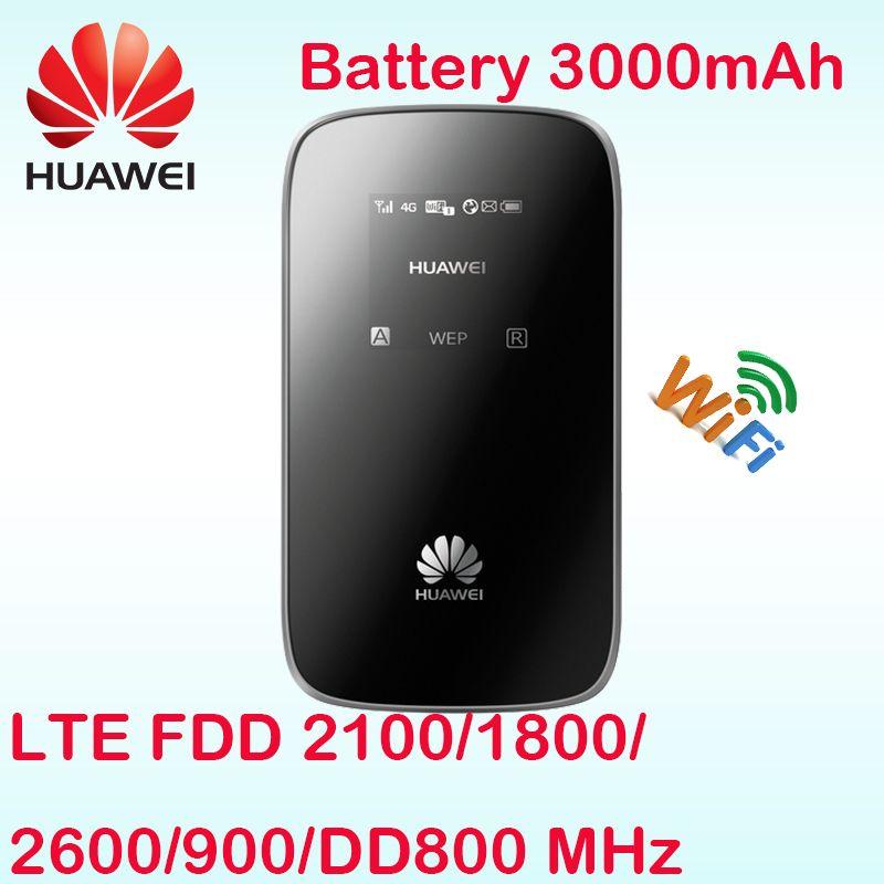 Débloqué Huawei E589 E589u-12 LTE 4g wifi routeur Hotspot 4g FDD bande 20 DD800 routeur mifi 4g sim carte slot lte routeur wifi