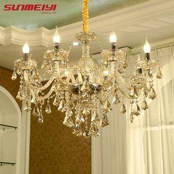 Moderne Lustre En Cristal Salon lustres de cristal Décoration Tiffany Pendentifs et Lustres Éclairage Intérieur Lampe
