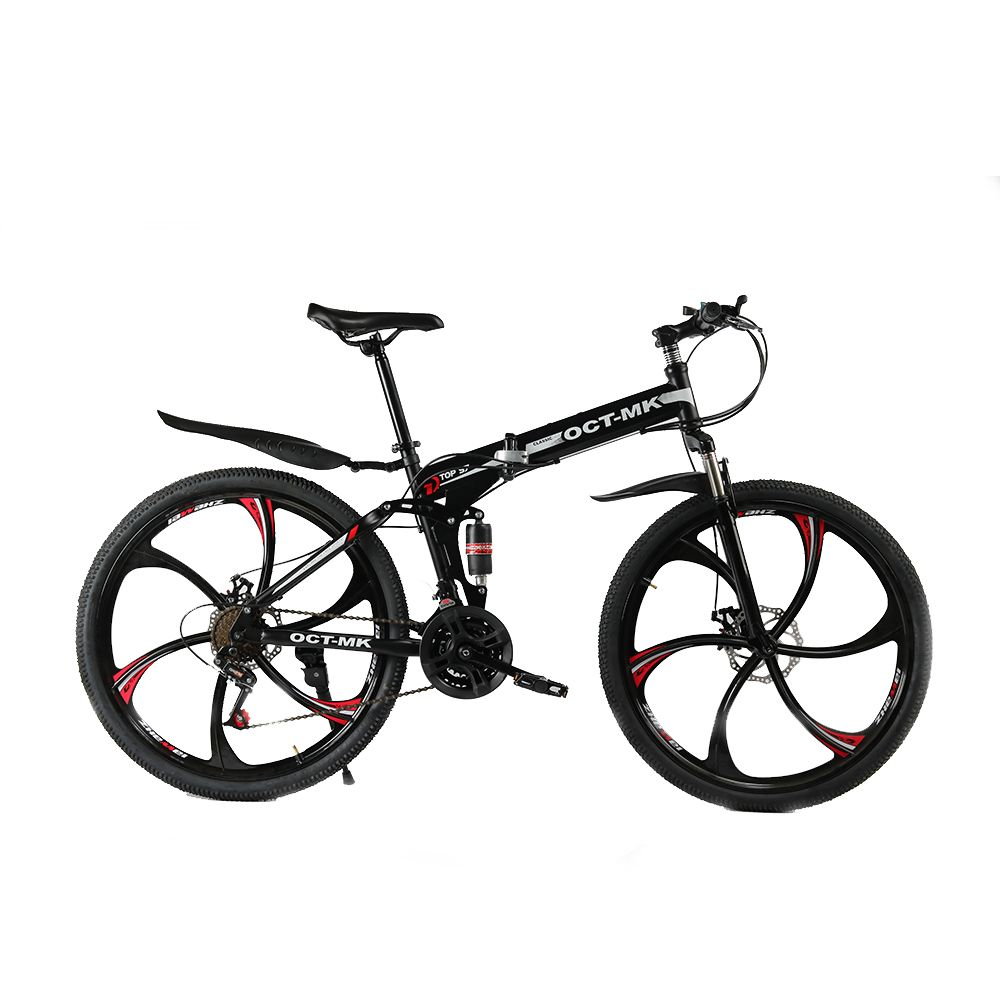 Russian wholesale and <font><b>warehouse</b></font> Top quality 26 Inch folding mountain bike 21 Speed Double Disc Brake complete bicycle