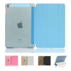 Ultra Slim pu Smart Flip stand pu Funda de cuero para IPad mini 1 2 3 4 wake up sleep función