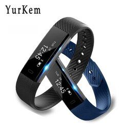 Yurkem Smart Bracelet ID115 Veryfit Bande À Puce podometre sport testeur calories contre montre-bracelet pour xiomi pk fit bit mi bande 2