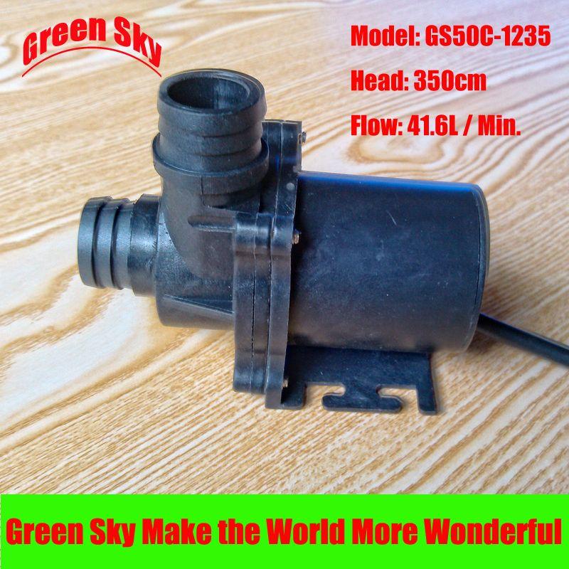41.6L/Min 350cm Head 12V DC 45.6W Submersible fountain aquarium circulation solar hot water pump circulation