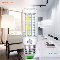 E27 Светодиодный лампа «Кукуруза» E14 лампы в форме свечи лампы для домашнего декора 220 V светодиодный кукурузная осветительная лампочка GU10 св...