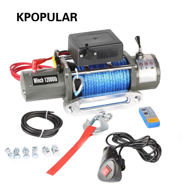 Car winch 12000 lb car tuning 12v24v electric winch winches for ATV 4WD boat Truck SUV 4x4 off road Car hoist self-help Rescue
