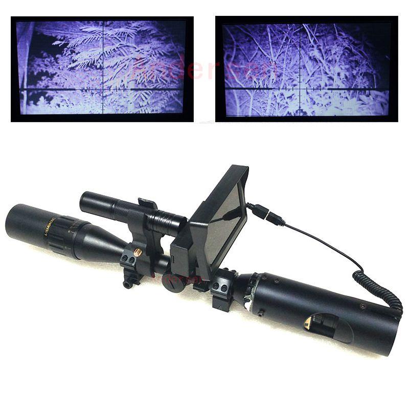 Nouvelle Chaude En Plein Air Chasse optique sight Tactique numérique Infrarouge jumelles de vision nocturne avec LCD et lampe de Poche Pour Lunette De Visée