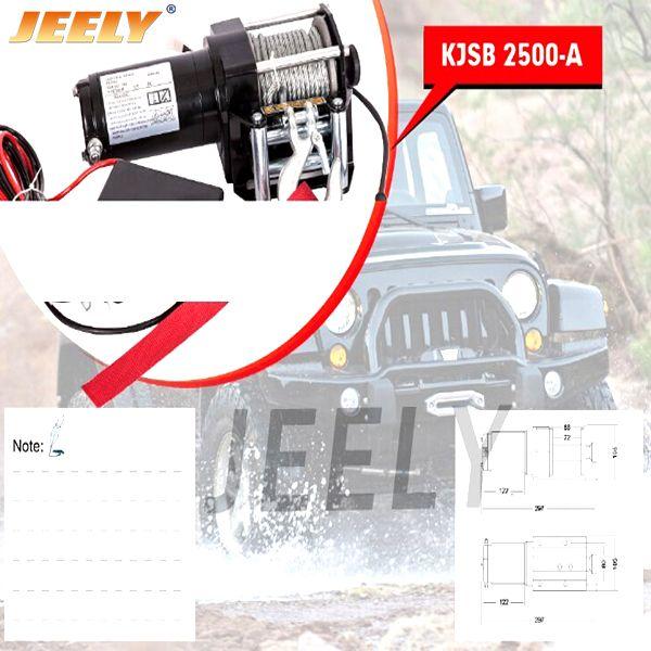 FREE SHIPPING DC 12V 2500LB Electric ATV/UTV/4X4/4WD Winch,Car winch