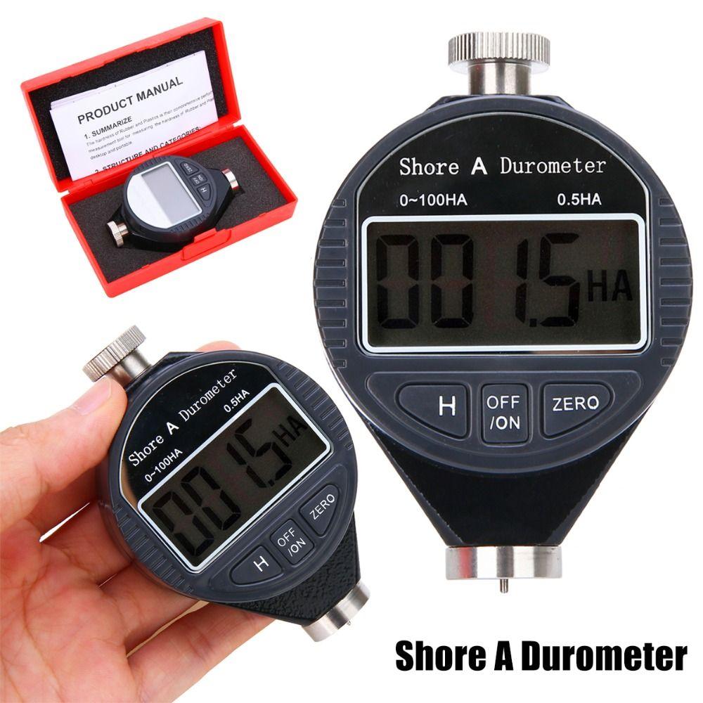 1 pc nouveau testeur de duromètre de dureté numérique 0-100HA Shore A LCD mètre pour caoutchouc plastique cuir multi-graisse cire
