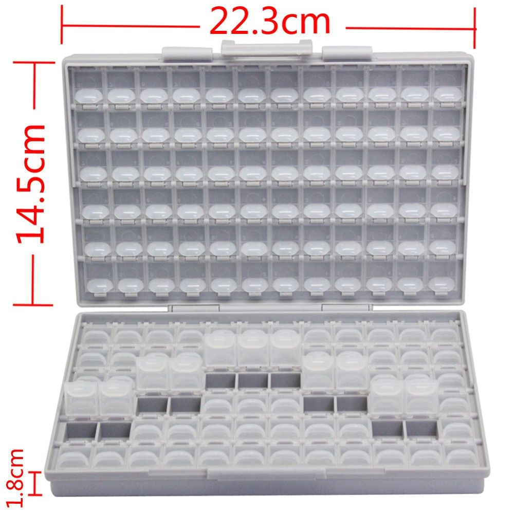 AideTek SMD SMT resistor capacitor Electronics Storage Cases & Organizers 1206 0805 0603 0402 0201 enclosure plastics BOXALL