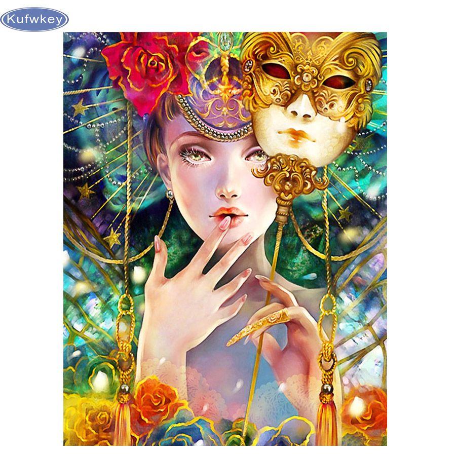 5d diy diamond painting flower girl cross stitch of diamond embroidery diamond mosaic home decoration Christmas gifts