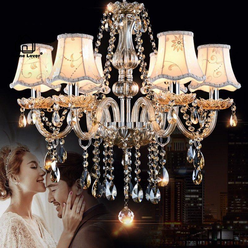 Chandeliers Lighting for home lighting Bedroom Kitchen Fixtures Cognac Color lustres para sala de jantar modern led chandelier