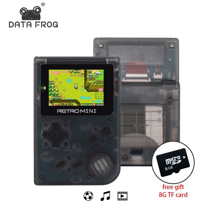 Data Frog Retro Game <font><b>Console</b></font> 32 Bit Portable Mini Handheld Game Players Built-in 940 For GBA Classic Games Best Gift For Kids